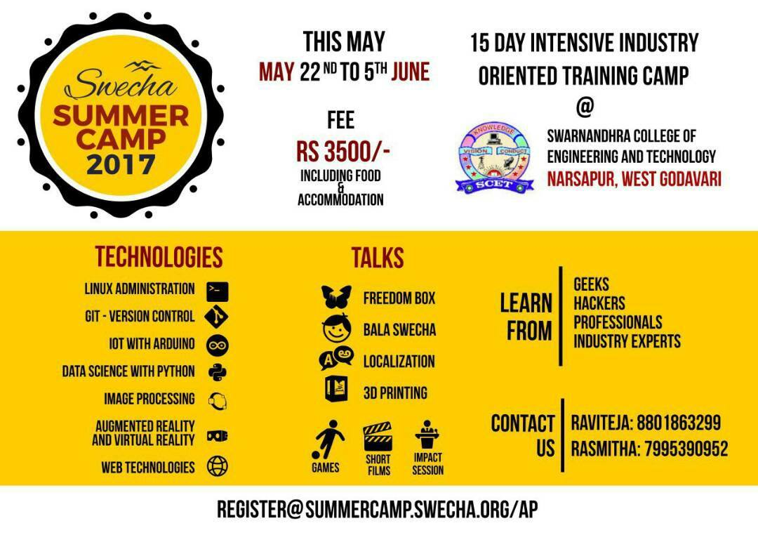 Swecha Summer Camp